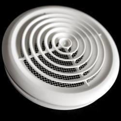 Biała okrągła kratka wentylacyjna 166mm do rury fi 125mm ,