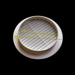 Biała okrągła kratka wentylacyjna 189mm do rury 150mm ,