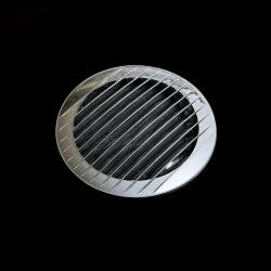 Chromowana okrągła kratka wentylacyjna 184mm do rury 150mm ,
